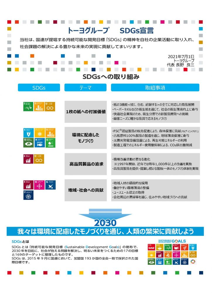 SDGs宣言書